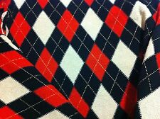 BLACK AND RED CREPE KNIT FABRIC ONE YARD -SEWING SUPPLIES