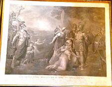 GRABADO TRATADO DE PAZ ROMULO, TITO TACIO, REINO ROMA 1795, SINGLETON, THOUVENIN