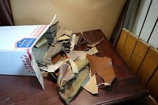 Assorted Genuine Leather Scraps/Remnants Lot - Brown Shades - 28