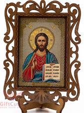 Wooden Icon of God Lord Jesus Pantocrator Cпаситель Иисус Господь Вседержитель
