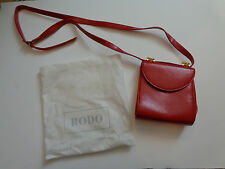 RODO Italy Red Handbag Clutch Purse Shoulder Evening Bag