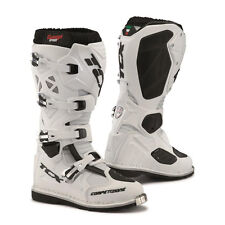 STIVALI BOOTS MOTO CROSS ENDURO TCX COMP EVO ANTI TORSION WHITE BIANCO TG 44