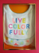 Kate Spade 'Live Colorfully' Bib Gift Set- Baby girl, 2 piece