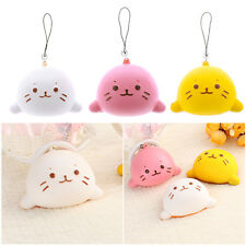 8cm Expression Cat Ball Squishy Soft Bread Cell phone Straps Bun Key Chains Gift