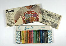Vintage Pentel 15 Dyeing Pastels Crayons for Fabric Permanent Washable