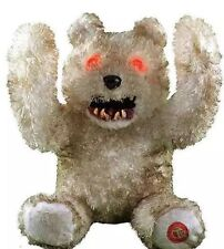 Animated Creepy Smile Teddy Bear, Halloween Prop, Decor Scary Haunted House
