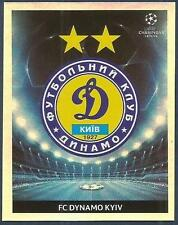 PANINI UEFA CHAMPIONS LEAGUE 2009-10- #379-DYNAMO KYIV TEAM BADGE-SILVER FOIL