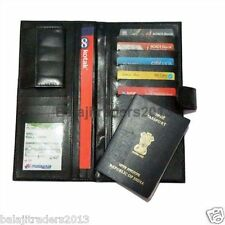 BLACK CHEQUE BOOK HOLDER FOLDER /PASSPORT,DEBIT-CREDIT CARD HOLDER WALLET