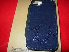 TRUE RELIGION JEANS IPHONE5 CELL PHONE SNAP-ON CASE W/ SWAROVSKI ELEMENTS NIB