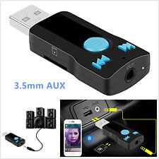New 3.5mm AUX USB Bluetooth Receiver Adapter For Stereo Audio Speakers MP3 Music