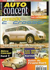"""REVUE MAGAZINE AUTOMOBILE """" AUTO CONCEPT """" N°38 CITROEN C-CROSSER FORD T ......."""