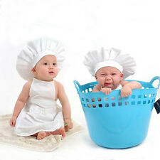 Hot Baby Photography Clothes Chef Style Outfits Photo Props Costume Apron + Hat