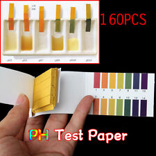 Universal 160 Full Range 1-14 pH Test Indicator Paper Strips Litmus Testing Kit