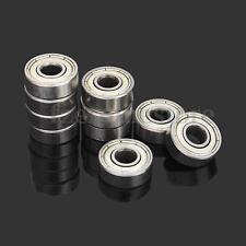 10Pcs 606zz Steel Sealed Shielded Deep Groove Ball Bearings 6mm x 17mm x 6mm