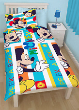 NEW DISNEY MICKEY MOUSE 'BOO' SINGLE DUVET QUILT COVER BOYS KIDS TODDLER BEDROOM