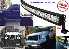 "288w Cree Curved Light Bar Led 50"" Spot Combo Beam Off Road New Free Shipping"