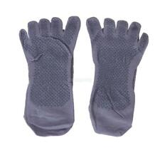 Men's Health Yoga Sports Non Slip Massage Warm Five Fingers Toe Socks Gray