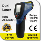 30:1 Hi Temp Dual Laser Infrared Gun Thermometer 1000 C High Accuracy