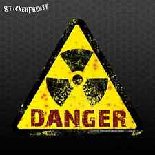 Tri Danger Radiation Vinyl Decal #FS935 Warning Bumper sticker car truck laptop
