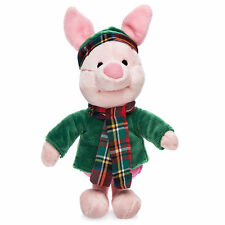 "Disney Store Winnie the Pooh Piglet Holiday Plush Toy Doll 8"" Stuffed Animal NEW"