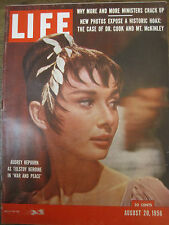 LIFE Aug 20 1956 A Hepburn, War and Peace movie, '56 Olympics, Suez Canal crisis