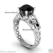 Skull Goth Design Mixed Metal Witchy Cheap Price Ring Funky Engagement Ring Band