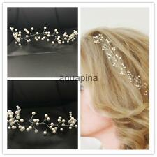 Wedding Bridesmaid Faux Pearl Headband Tiaras Headpiece Hair Accessory