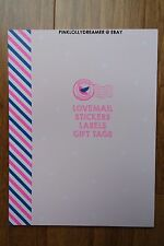 Kikki K LOVE MAIL stickers labels and tags book for planner diary agenda NEW