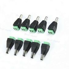 10pc Easy Connector Male For LED Strip Light Lamp 3528 5050 Adapter Power Supply