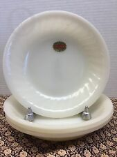 NEW old Stock*Fire King*Set of 4*Ivory Swirl*Soup Bowls*Original Stickers 16288A