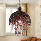Vintage Tiffany Style Stained Glass Chandelier Lamp Shade Hanging Light Fixture