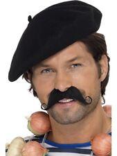Klassische Baskenmütze schwarz NEU - Karneval Fasching Hut Mütze Kopfbedeckung