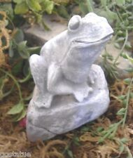 latex only  frog on rock plaster mould  concrete mold