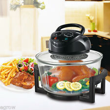 17 Quart Rapid Wave Halogen Convection Countertop Oven Cooker With Extender Ring