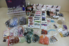 Estate Craft Lot Beads Jewelry Making Supply's Stone Beads Thread Storage Boxes