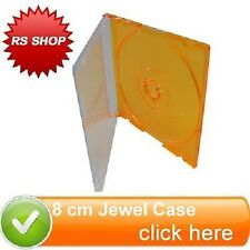 5 Orange 8cm Disc Disk Jewel Case for CD-R CDs DVDs DVD