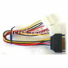 AOC 8inch SATA 15pin (Male) Power to Dual 4pin Molex (Female) Y Cable