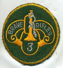 Vintage US Army 3rd Cavalry Brave Rifles Color Patch Cut Edge