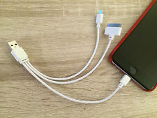 3 IN 1 USB MULTI LADER KABEL VOOR APPLE IPHONE SAMSUNG ANDROID TELEFOON DUURZAAM