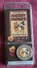 Walt Disney Mickey Mouse STEAMBOAT WILLIE DISNEY DECADES COLLECTIBLE COIN #1
