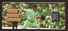 Jeff Weaver--2002 Detroit Tigers Spring Training Ticket Brochure/Schedule