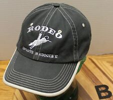 RODEO SPORTS MEDICINE HAT BLACK ADJUSTABLE IN VERY GOOD CONDITION