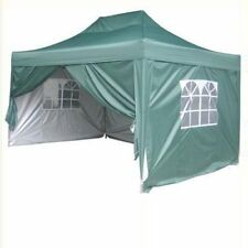 10 x 15' Easy Set Pop Up Party Wedding Tent Canopy Gazebo Green+Free Carry bag
