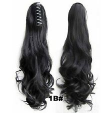 "22"" /55CM Claw Pony tail Ponytail Clip In On Hair Extension Wavy Curly Style"