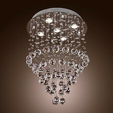 Crystal Chandelier Rain Drop Pendant Baroque Design Ceiling Lamp with 5 Lights