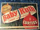 Vintage 1950's Christmas Tree Advertising Grocery Sign Baby Ruth Ornaments