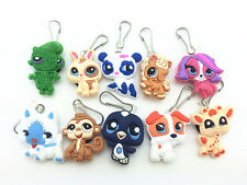 10pcs Littlest Pet Shop Zip Pull & Zipper Pull Charms for Jacket Backpack Bag