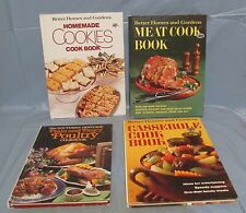 Lot of 4 Cookbooks Better Homes & Gardens Cookies, Meat, Casserole & SH Poultry