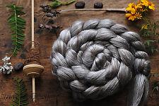 TIBETAN YAK SILK  Undyed Natural Tibetan Yak Cultivated Silk 50/50 Blend Top