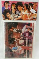 Rolling Stones Vintage 1983 NOS Sticker Mick Jagger Keith Richards Start Me Up